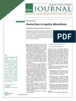 Aust vs Int'l Equity Portfolio Journal