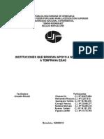 INSTITUCIONES QUE BRINDAN APOYO A NIÑOS Y NIÑAS A TEMPRANA EDAD.doc