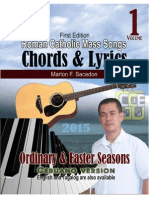 Roman Catholic Mass Songs, CHORDS & LYRICS, vol 1