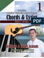 Roman Catholic Mass Songs, CHORDS & LYRICS, vol 1