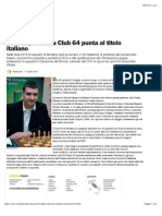 scacchi, modena club 64 punta al titolo italiano