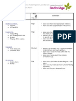 1 PAGE Risk Assessment Form HARROW