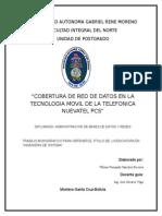 Cobertura de Red de Datos en La Tecnologia Movil de La Telefonica Nuevatel Pcs