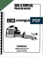 Emco Compact 5 Manuel
