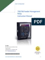 750 Multilin Feeder Management Relay Manual