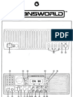 Transworld TW100 HS SSB Transceiver - Condensed Operating Instructions (Laminated Card Front and Back)