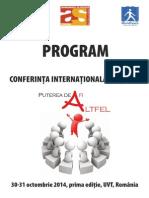 1 Program Conferinta Pfa 2014