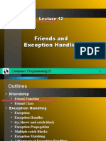 Lecture12-Friends Eception Handling
