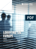 Lobbying en Europe Resume Et Recommandations Avril 2015