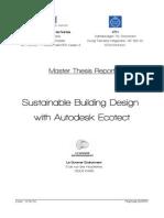 Sustainable Building Design with Autodesk Ecotec
