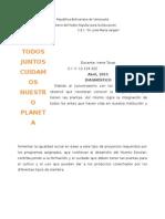 Planificacion Todos Juntos Cuidamos Nuestro Planeta