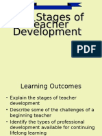 Stages of Teacher Dev