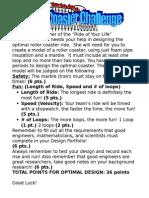 roller coaster +challenge worksheet