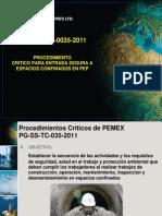 Procedimientos Criticos de Pemex 035 Espacios Confinados
