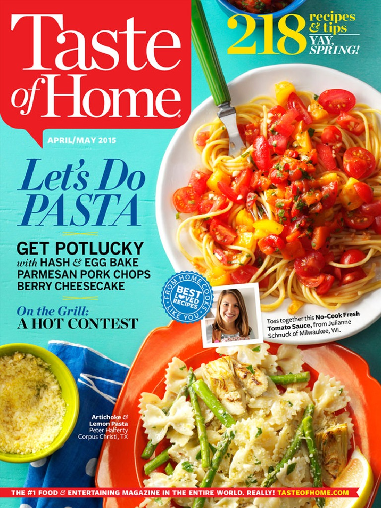 Taste of Home - April/May 2015 | Taco | Cakes