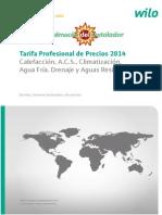 Wilo Bombas y Grupos de Presion Tarifa 2014