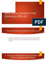 Why Some Students Find Listening Difficult