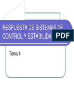 Respuesta de Sistemas de Control Discreto y Estabilidad