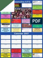 Crossmolina AFC Calendar 2007