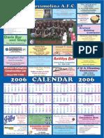 Cross AFC Calendar 1999