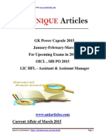 Uniarticles.com GK Power Capsule 2015 for Oicl,SBI PO 2015,LIC