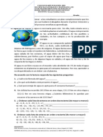 PLAN DE MEJORAMIENTO MATEMATICAS 7°  PRIMER TRIMESTRE 2015