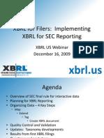 XBRL-US Dec2009 Webcast Slides
