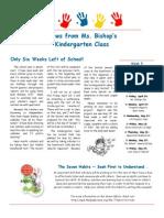 bishop newsletter, april 20