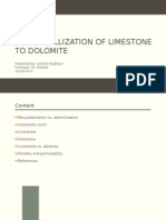 Recrystallization of Limestone to Dolomite