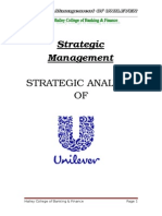 Strategic Analysis of UNILEVER Pak Ltd