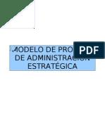 Modelo de Proceso de Administración Estratégica