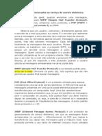 PROTOCOLOS Relacionados Com Serviço de Email (IMAP, SMTP e POP3)