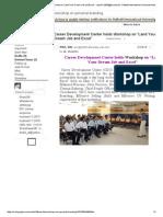 "Career Development Center Holds Workshop on ""Land Your Dream Job and Excel"" - Azad11-2633@Diu.edu"