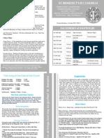 Newsletter 18-19th April 2015