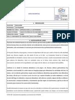 CD GA001 Introduccion a La Gastronomia
