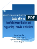 Lecture No 04 Slides Portfolio Diversification and Supporting Financial Institutions
