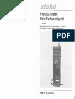 Stabo Sigma Manual walkie talkie 27 Mhz 17