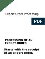 c2715export Order Processing