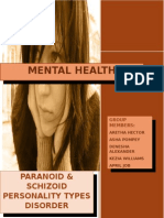 Paranoid and Schizoid