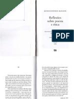 KAVAFIS, Konstantinos - Reflexões Sobre Poesia e Ética