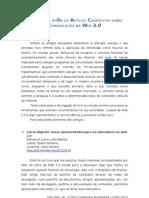 Pesquisa na b-On de artigos sobre a Comunicação na Web 2.0