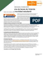Boletin - Holland Scholarship - Nuevo Programa de Becas Para Estudiar en Holanda