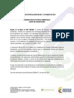 Comunicado Resolución 0268 de 2015