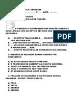 Exercícos de Gramática 5º C 2010