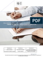 Reglamento para las Actividades de Formación Continua del Centro de Análisis y Resolución de Conflictos - Modalidades Presencial y Semi-presencial