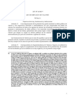 Ley N°18.045 (Modificada por ley N° 20.190 sobre reforma al Mercado de Capitales II)