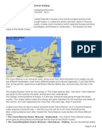 introduction to the trans-siberian railway