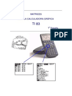 Matrices Con Calculadora Grafica