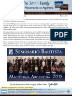 Prayer Letter Smiths2argentina 2015 04 SBMA