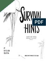 Survival Hints Ww2 Pacific Sere